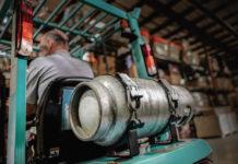 wózek widłowy zasilany propanem